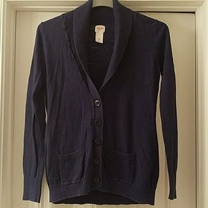 Navy Longsleeve Buttondown Cardigan with Pockets